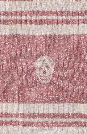 Женские хлопковые носки ALEXANDER MCQUEEN розового цвета, арт. 584618/3B75Q | Фото 2
