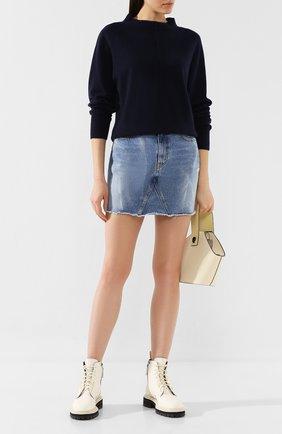 Женская кашемировый пуловер VINCE темно-синего цвета, арт. V586078205 | Фото 2