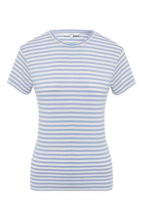 Женская футболка из шелка и вискозы VINCE темно-синего цвета, арт. V588183342 | Фото 1