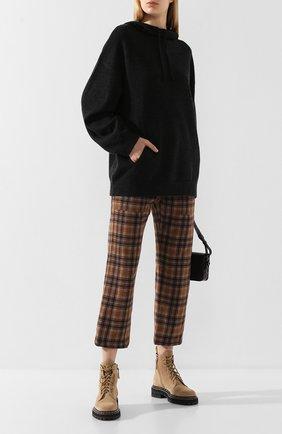 Женская кашемировое худи VINCE темно-серого цвета, арт. V604378112 | Фото 2