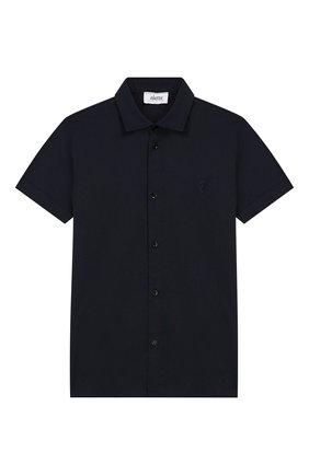 Детская хлопковая рубашка ALETTA синего цвета, арт. AM999490MC/9A-16A | Фото 1
