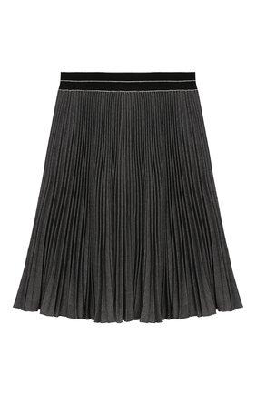 Детская плиссированная юбка ALETTA темно-серого цвета, арт. AF999337LL/9A-16A | Фото 1