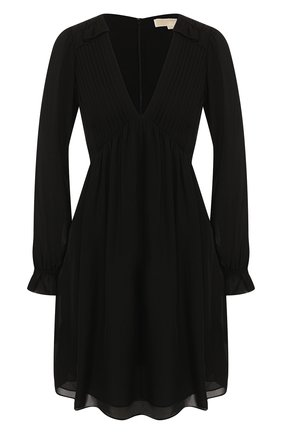 Женское шелковое платье MICHAEL MICHAEL KORS черного цвета, арт. MU98Z07B06 | Фото 1