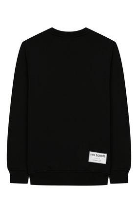 Детский хлопковый свитшот NEIL BARRETT KIDS черного цвета, арт. 020597 | Фото 2