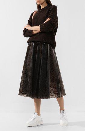 Женская юбка MSGM бежевого цвета, арт. 2741MDD07 195605 | Фото 2