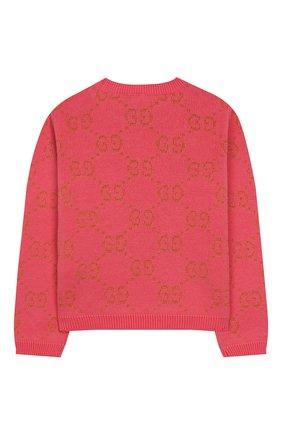 Детский хлопковый пуловер GUCCI розового цвета, арт. 580627/XKAHM | Фото 2