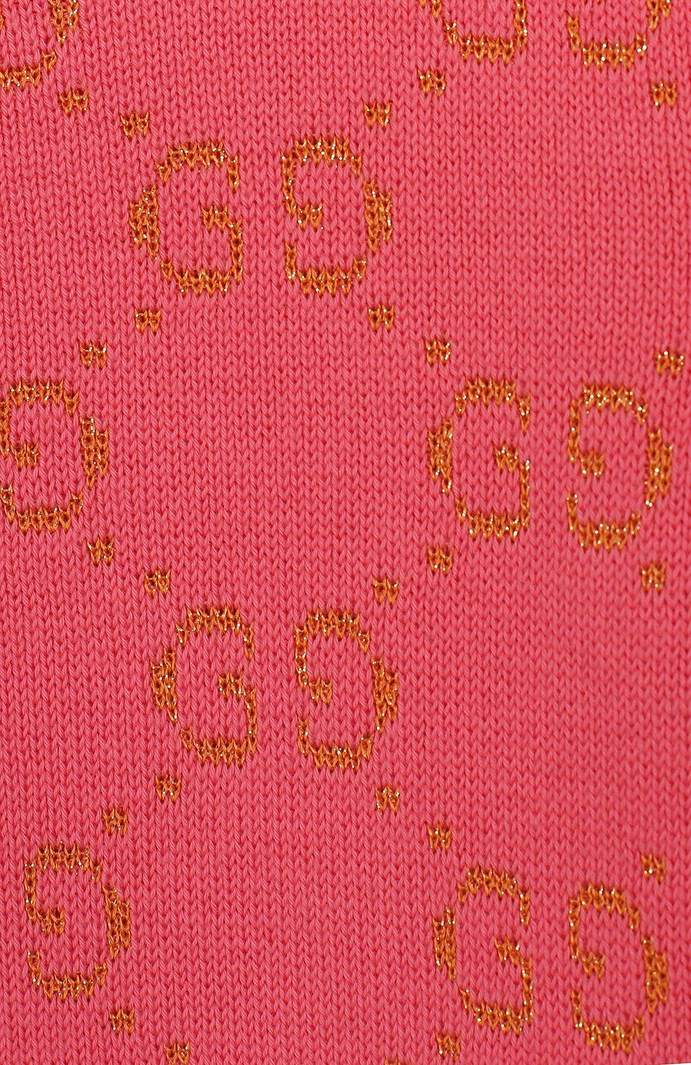 Детский хлопковый пуловер GUCCI розового цвета, арт. 580627/XKAHM   Фото 3