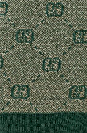 Детские брюки из шерсти и хлопка GUCCI зеленого цвета, арт. 574620/XKAS0 | Фото 3