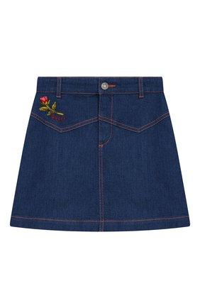 Детская джинсовая юбка GUCCI голубого цвета, арт. 572168/XDARR | Фото 1