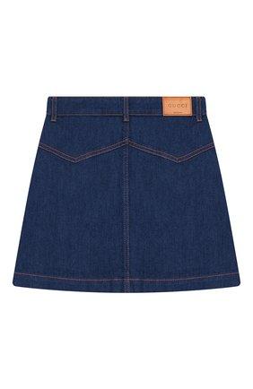 Детская джинсовая юбка GUCCI голубого цвета, арт. 572168/XDARR | Фото 2
