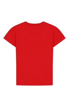 Детский хлопковая футболка GUCCI красного цвета, арт. 555675/XJBJH | Фото 2