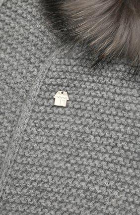 Детский шарф SIMONETTA серого цвета, арт. 1L0103/LC120 | Фото 2