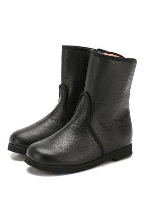 Детские кожаные ботинки PRETTY BALLERINAS черного цвета, арт. 48.373/SILKY | Фото 1