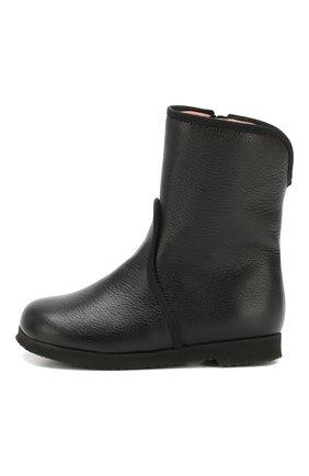 Детские кожаные ботинки PRETTY BALLERINAS черного цвета, арт. 48.373/SILKY | Фото 2