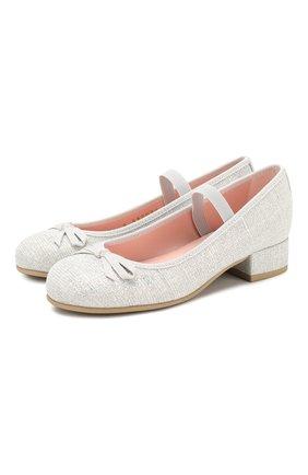Детские туфли с перемычкой PRETTY BALLERINAS белого цвета, арт. 44.097/GALASSIA | Фото 1