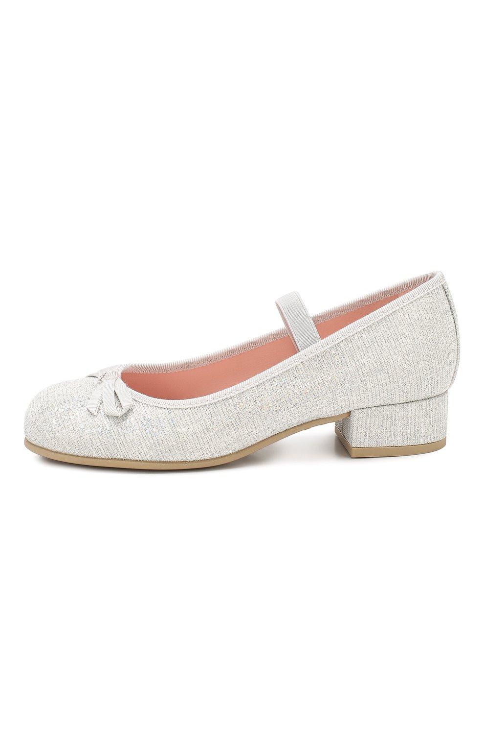 Детские туфли с перемычкой PRETTY BALLERINAS белого цвета, арт. 44.097/GALASSIA | Фото 2