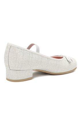 Детские туфли с перемычкой PRETTY BALLERINAS белого цвета, арт. 44.097/GALASSIA | Фото 3