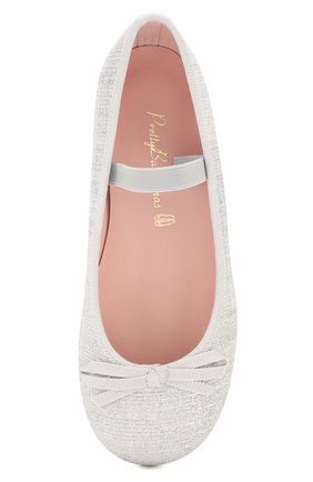Детские туфли с перемычкой PRETTY BALLERINAS белого цвета, арт. 44.097/GALASSIA | Фото 4