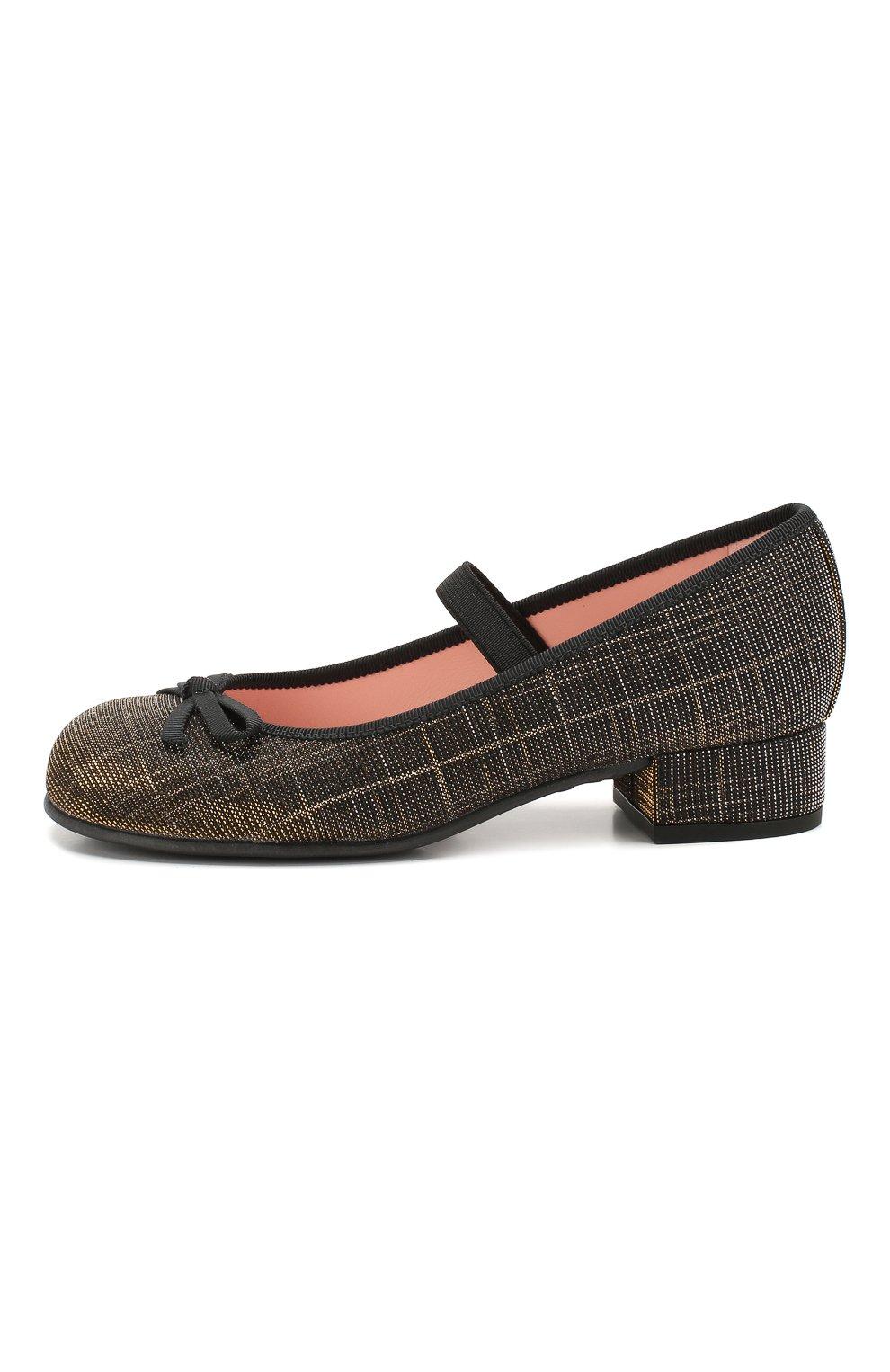 Детские туфли с перемычкой PRETTY BALLERINAS черного цвета, арт. 44.097/GALASSIA | Фото 2
