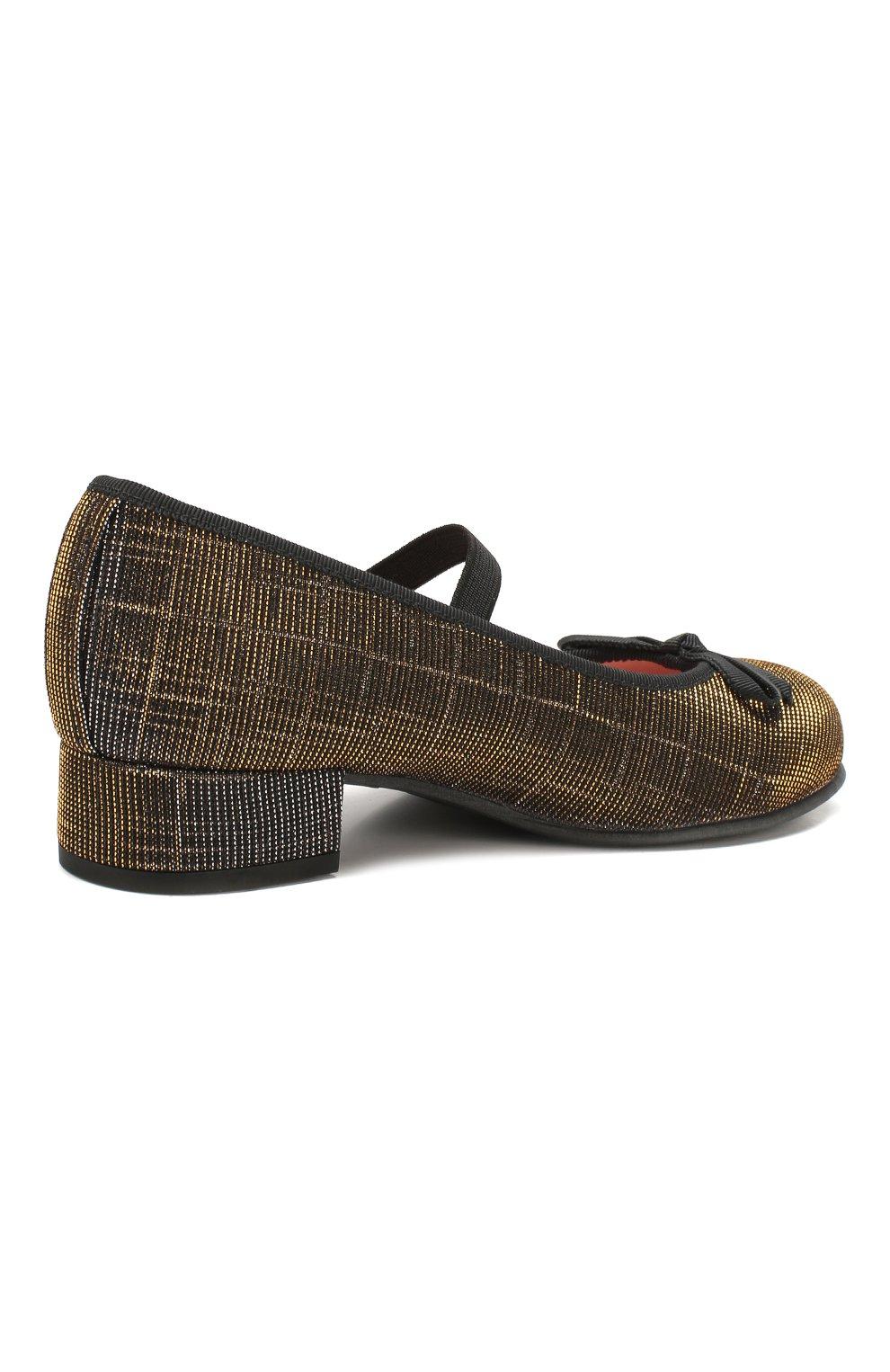 Детские туфли с перемычкой PRETTY BALLERINAS черного цвета, арт. 44.097/GALASSIA | Фото 3