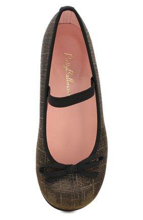 Детские туфли с перемычкой PRETTY BALLERINAS черного цвета, арт. 44.097/GALASSIA | Фото 4