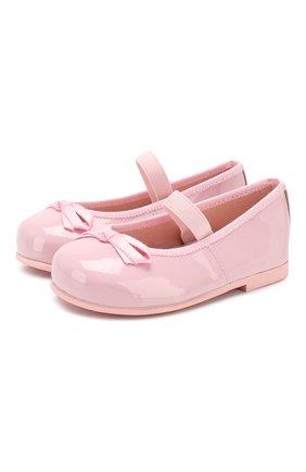 Детские кожаные балетки с перемычкой PRETTY BALLERINAS розового цвета, арт. 40.997/SHADE | Фото 1