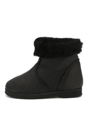 Детские замшевые ботинки с меховой отделкой PRETTY BALLERINAS черного цвета, арт. 39.310/CRUISE/CRUISE | Фото 2