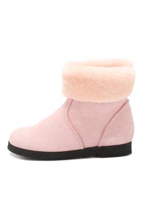Детские замшевые ботинки с меховой отделкой PRETTY BALLERINAS розового цвета, арт. 39.310/ASPEN/ASPEN | Фото 2