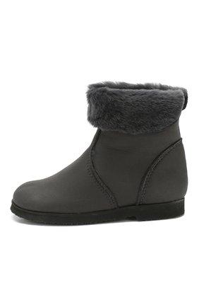 Детские замшевые ботинки с меховой отделкой PRETTY BALLERINAS серого цвета, арт. 39.310/ASPEN/ASPEN | Фото 2