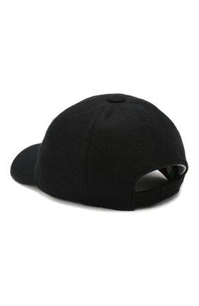 Мужской кашемировая бейсболка FEDELI черного цвета, арт. 2UI00801 | Фото 2