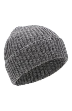 Мужская кашемировая шапка FEDELI серого цвета, арт. 2UI07302 | Фото 1