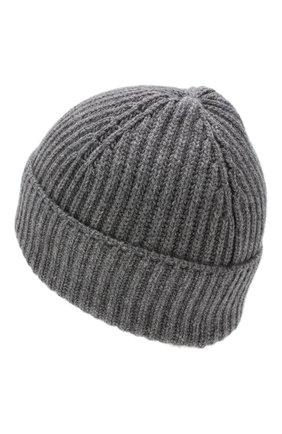 Мужская кашемировая шапка FEDELI серого цвета, арт. 2UI07302 | Фото 2