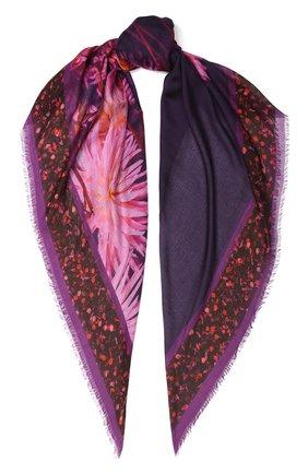 Женский платок DRIES VAN NOTEN фиолетового цвета, арт. 192-11310 | Фото 1