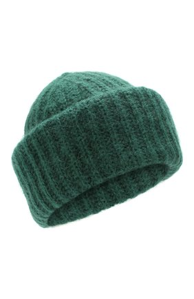 Женская шапка TAK.ORI зеленого цвета, арт. AC043MW018PF17 | Фото 1 (Материал: Текстиль, Шерсть, Синтетический материал; Статус проверки: Проверено, Проверена категория)