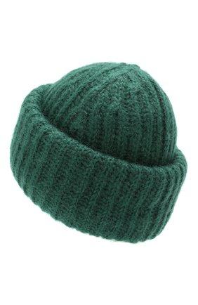 Женская шапка TAK.ORI зеленого цвета, арт. AC043MW018PF17 | Фото 2 (Материал: Текстиль, Шерсть, Синтетический материал; Статус проверки: Проверено, Проверена категория)