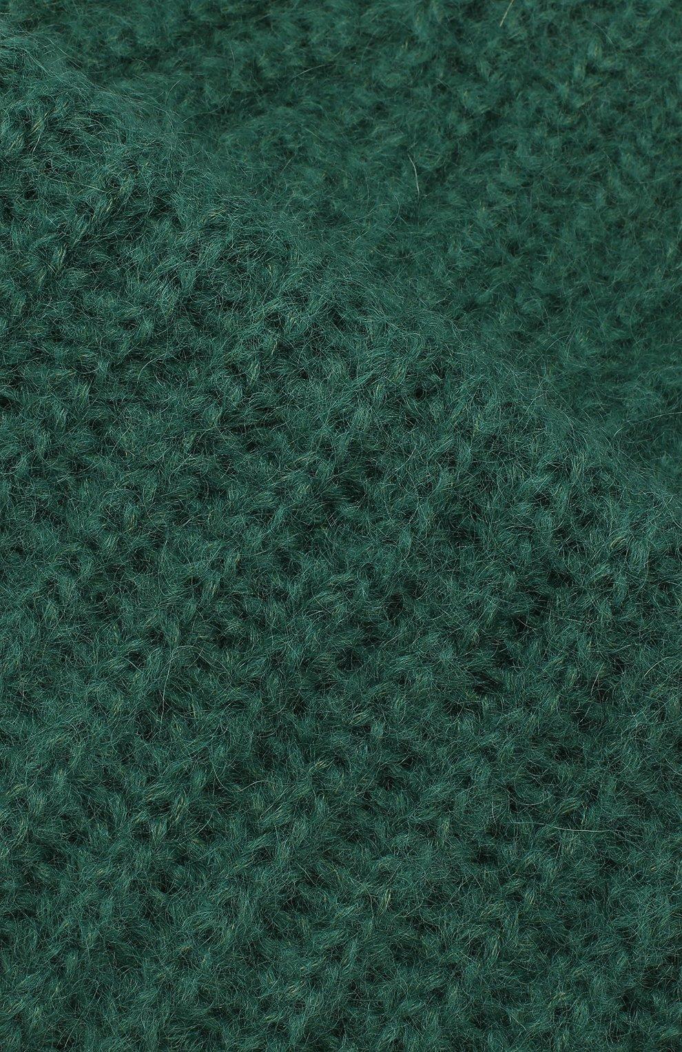 Женская шапка TAK.ORI зеленого цвета, арт. AC043MW018PF17 | Фото 3 (Материал: Текстиль, Шерсть, Синтетический материал; Статус проверки: Проверено, Проверена категория)