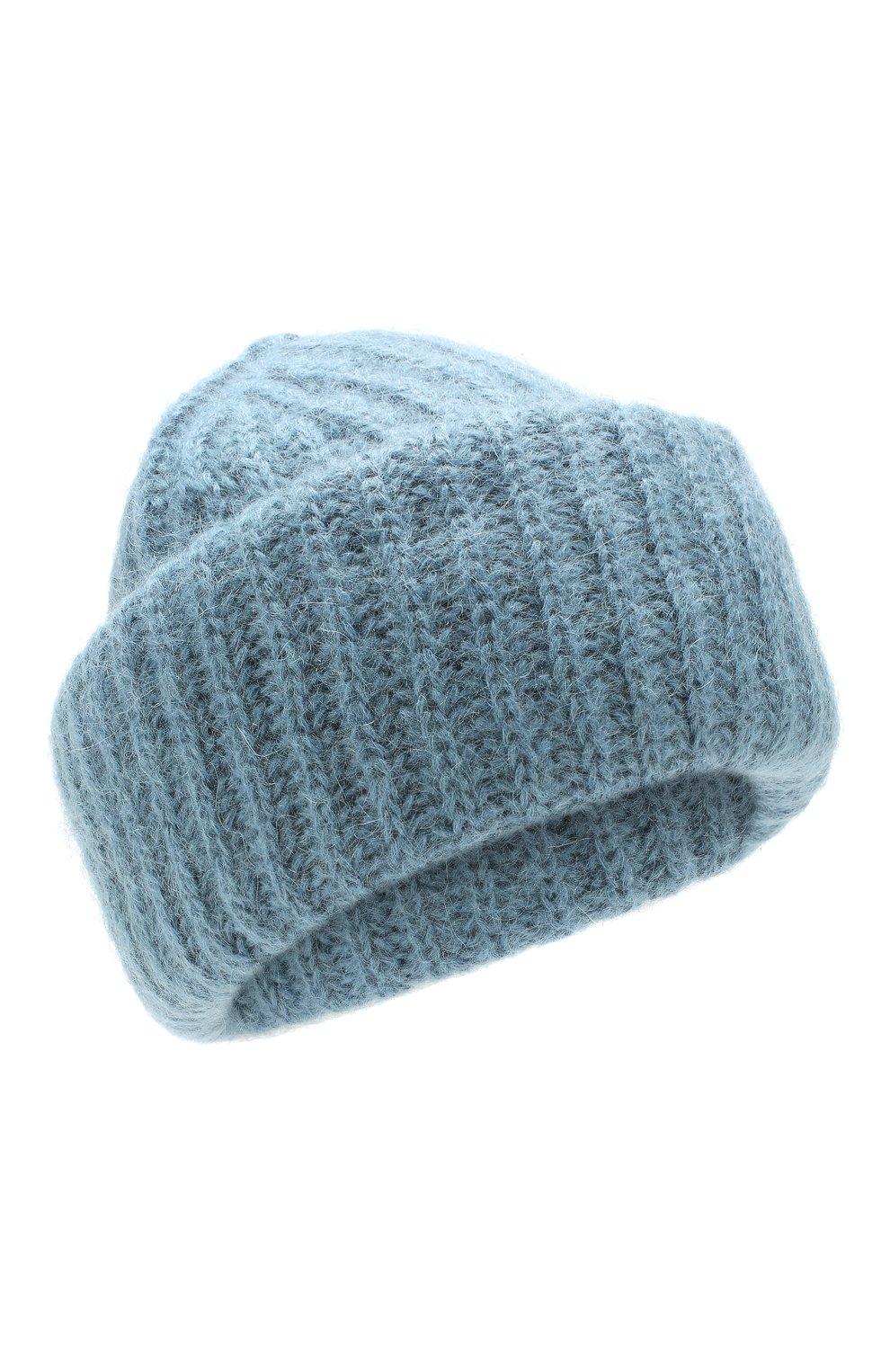Женская шапка TAK.ORI голубого цвета, арт. AC043MW018PF17 | Фото 1 (Материал: Текстиль, Шерсть; Статус проверки: Проверено)