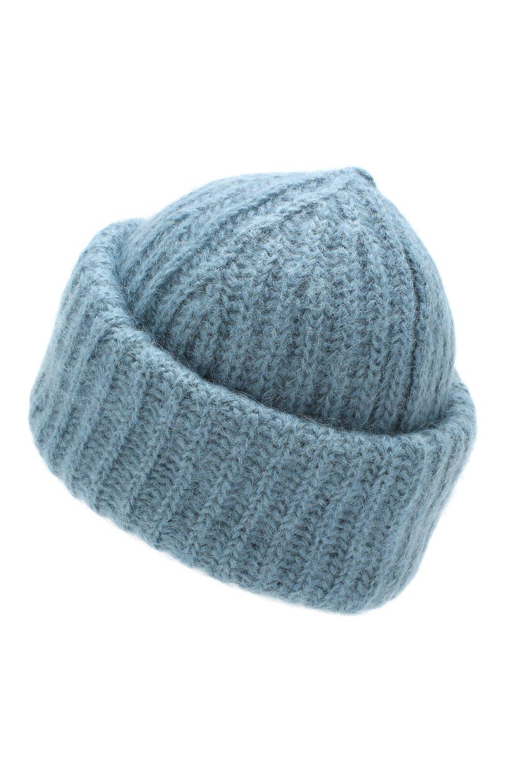 Женская шапка TAK.ORI голубого цвета, арт. AC043MW018PF17 | Фото 2 (Материал: Текстиль, Шерсть; Статус проверки: Проверено)