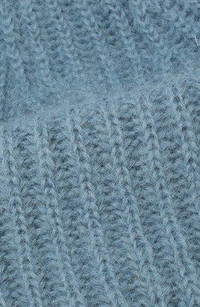 Женская шапка TAK.ORI голубого цвета, арт. AC043MW018PF17 | Фото 3 (Материал: Текстиль, Шерсть; Статус проверки: Проверено)