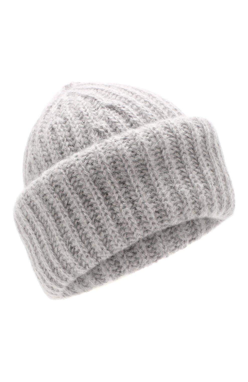 Женская шапка TAK.ORI светло-серого цвета, арт. AC043MW018PF17 | Фото 1 (Материал: Текстиль, Шерсть, Синтетический материал; Статус проверки: Проверено, Проверена категория)