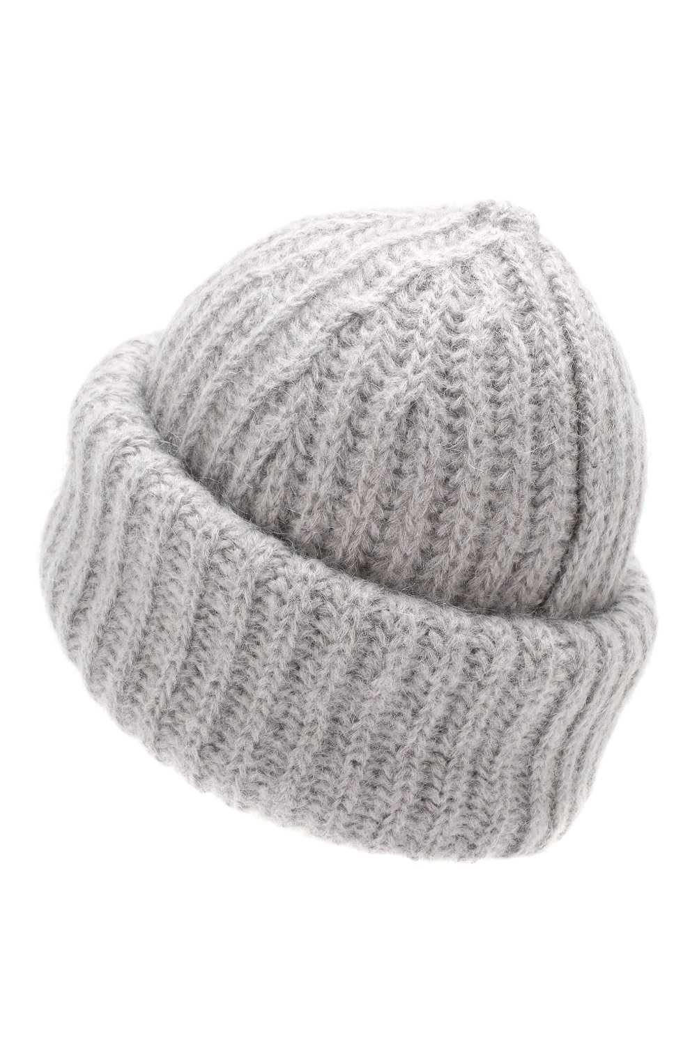 Женская шапка TAK.ORI светло-серого цвета, арт. AC043MW018PF17 | Фото 2 (Материал: Текстиль, Шерсть, Синтетический материал; Статус проверки: Проверено, Проверена категория)