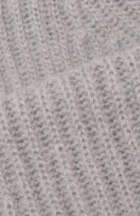 Женская шапка TAK.ORI светло-серого цвета, арт. AC043MW018PF17 | Фото 3 (Материал: Текстиль, Шерсть, Синтетический материал; Статус проверки: Проверено, Проверена категория)