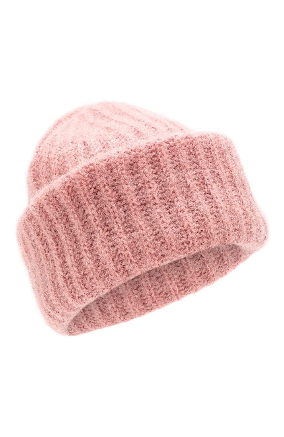 Женская шапка TAK.ORI розового цвета, арт. AC043MW018PF17 | Фото 1 (Материал: Текстиль, Шерсть; Статус проверки: Проверено)