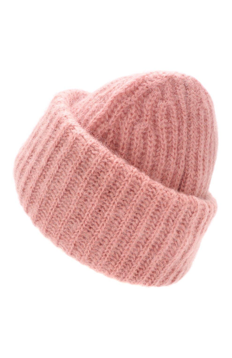 Женская шапка TAK.ORI розового цвета, арт. AC043MW018PF17 | Фото 2 (Материал: Текстиль, Шерсть; Статус проверки: Проверено)