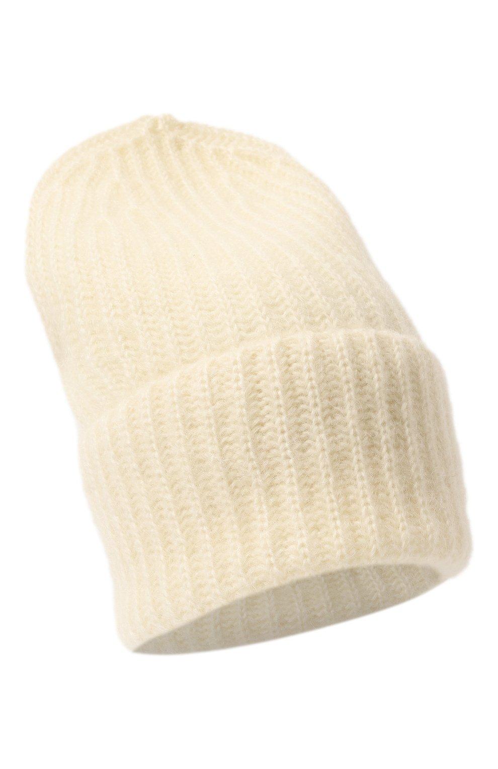 Женская шапка TAK.ORI белого цвета, арт. AC043MW018PF17 | Фото 1 (Материал: Текстиль, Шерсть, Синтетический материал; Статус проверки: Проверено, Проверена категория)