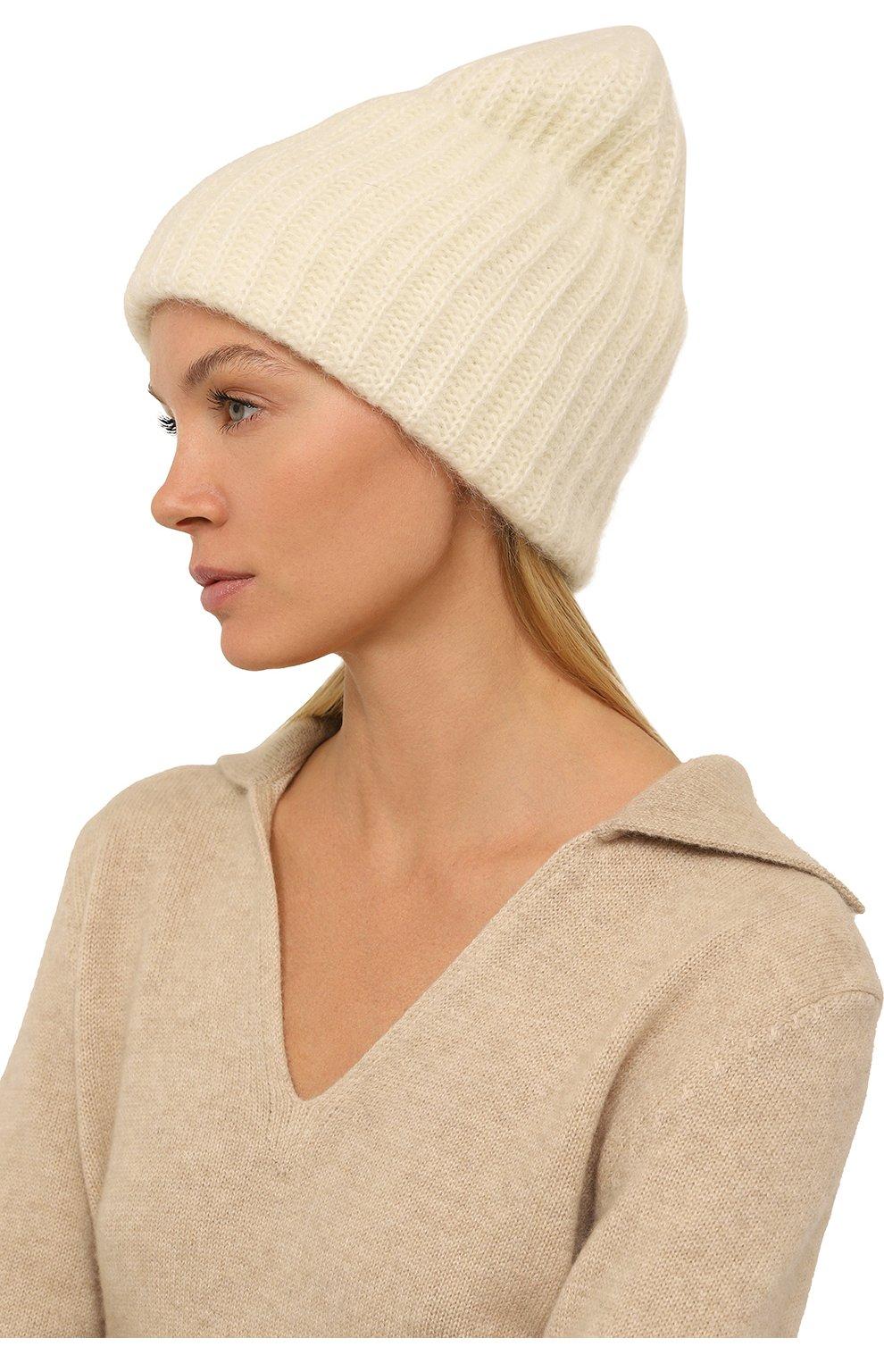 Женская шапка TAK.ORI белого цвета, арт. AC043MW018PF17 | Фото 2 (Материал: Текстиль, Шерсть, Синтетический материал; Статус проверки: Проверено, Проверена категория)