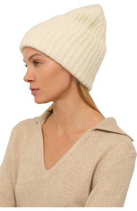 Женская шапка TAK.ORI белого цвета, арт. AC043MW018PF17 | Фото 2