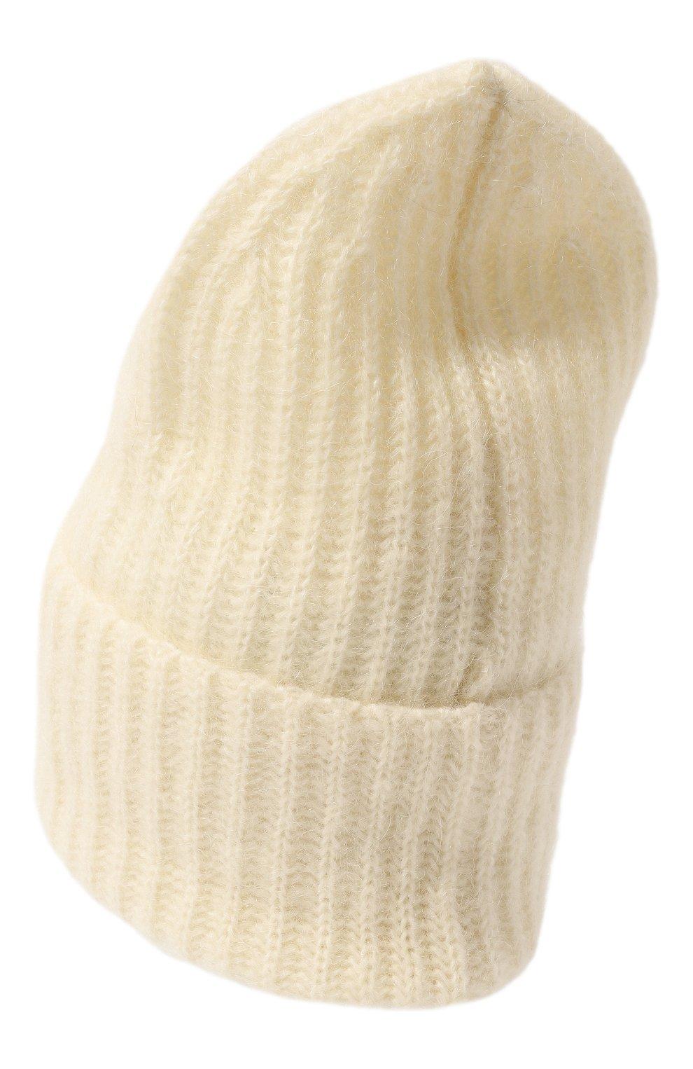 Женская шапка TAK.ORI белого цвета, арт. AC043MW018PF17 | Фото 3 (Материал: Текстиль, Шерсть, Синтетический материал; Статус проверки: Проверено, Проверена категория)