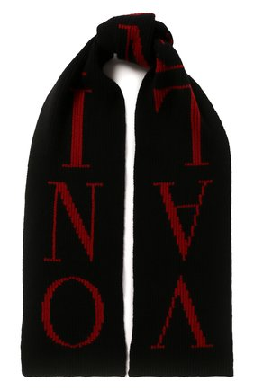 Мужской шарф из смеси шерсти и кашемира VALENTINO черного цвета, арт. SY0ET00CSZL | Фото 1