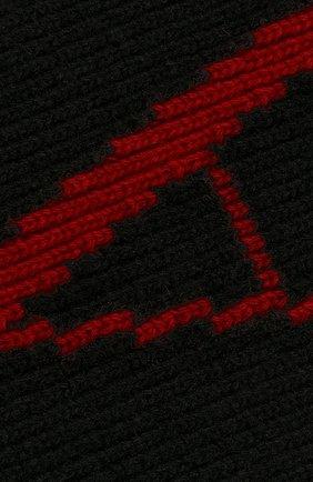 Мужской шарф из смеси шерсти и кашемира VALENTINO черного цвета, арт. SY0ET00CSZL | Фото 2